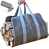 GALAFIRE Wood Carrier for Firewood with Handles, Canvas Firewood Sling Premium Quality Foldable 16oz...