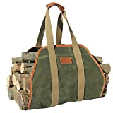 INNO STAGE Waxed Canvas Log Carrier Tote Bag,40'X19' Firewood Holder,Fireplace Wood Stove...
